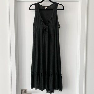 Wilfred Aritzia Sheer Black Maxi Dress Size Small